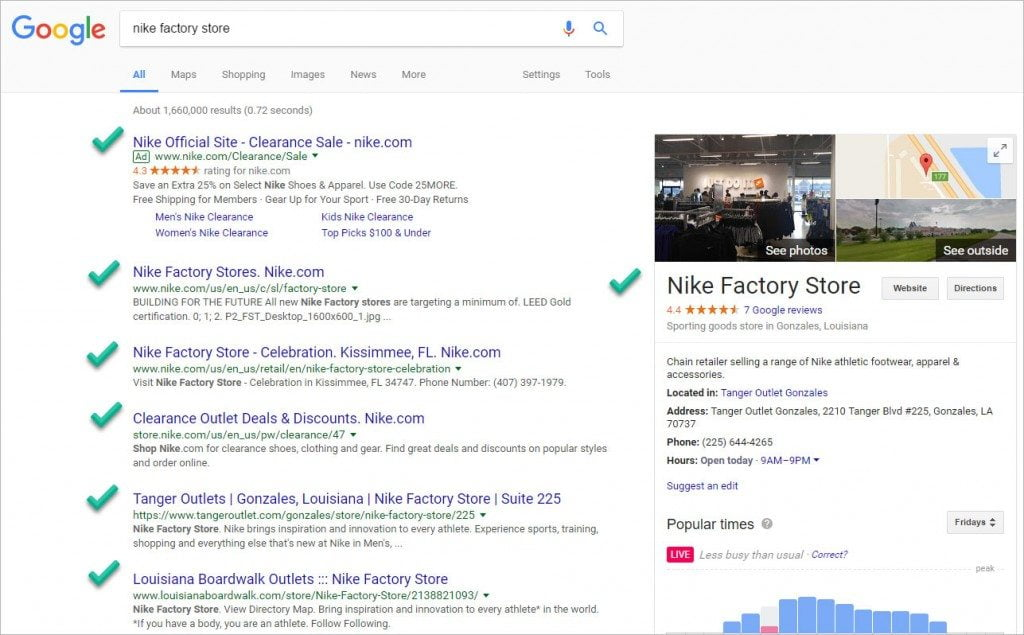 nike search results